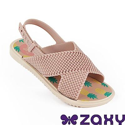 Zaxy 巴西 童編織完美涼鞋-粉色/米色
