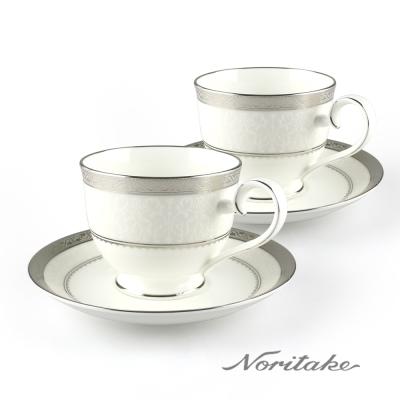 Noritake 華麗年代咖啡對杯-銀