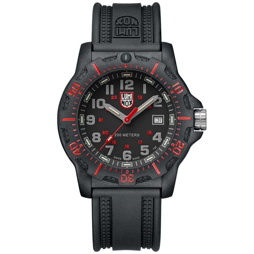 LUMINOX 雷明時Black Ops 8880黑夜行動系列腕錶-黑x紅時標/45mm
