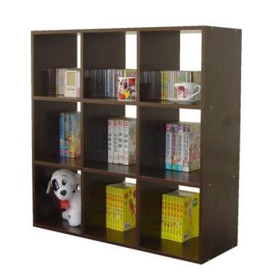 頂堅九格收納書櫃(寬90公分)-深胡桃木色