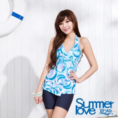 SUMMERLOVE 夏之戀 藍海風情長版二件式泳衣