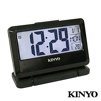 【KINYO】大字幕LCD多功能電子鐘 (TD-391)