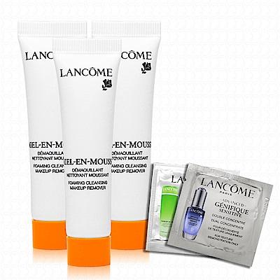 LANCOME蘭蔻 蜂蜜卸妝潔顏油15mlx3(贈專櫃試用包x2)