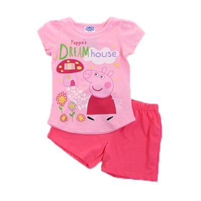 粉紅豬小妹短袖套裝 k 50090