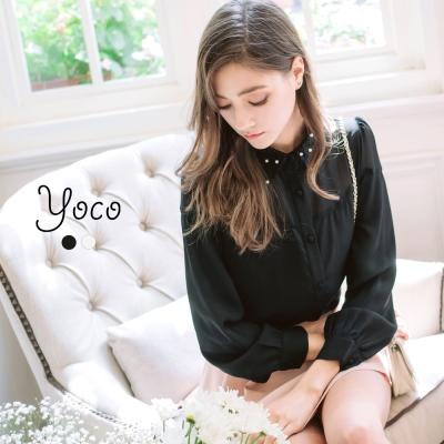 東京著衣-yoco 唯美蕾絲領襯衫-S.M.L(共二色)