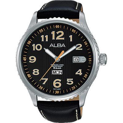 ALBA PRESTIGE 街頭酷流行腕錶(AV3509X1)-黑/45mm