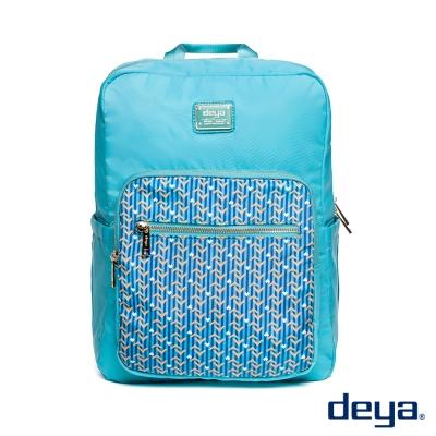 後背包 deya繽紛幾何防潑水輕量後背包
