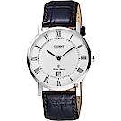 ORIENT東方 羅馬復刻手錶-白x咖啡/38mm