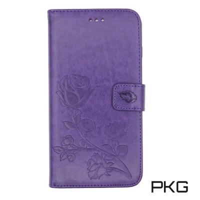 PKG Apple IPhone 7/8 Plus 側翻式皮套-精選系列-壓紋紫...