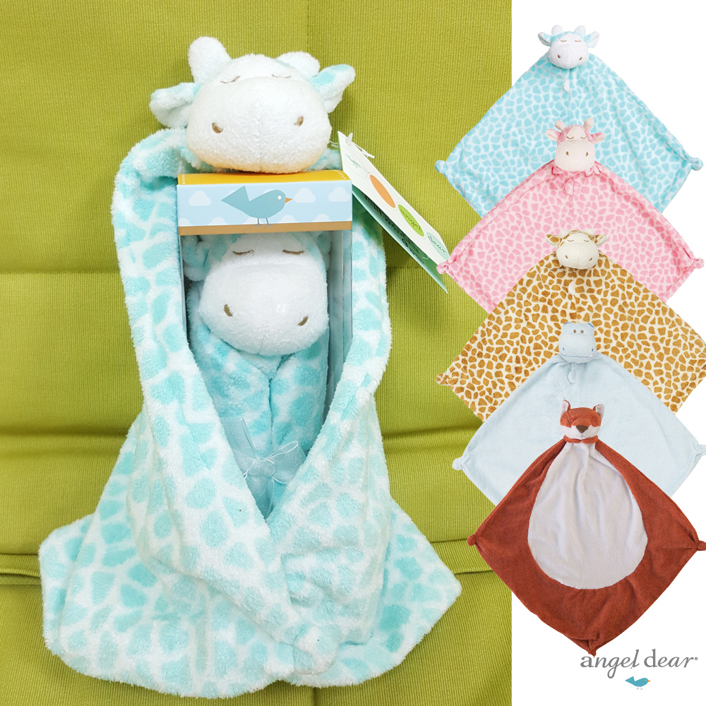 【彌月禮】美國 Angel Dear 動物嬰兒安撫巾禮盒版-藍色小象