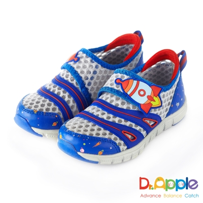 Dr. Apple 機能童鞋 遨遊上太空極透氣休閒童鞋款  藍