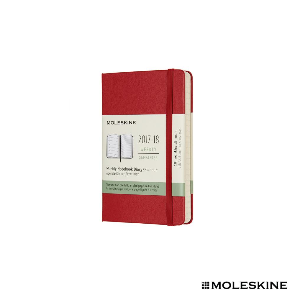 MOLESKINE 2018週記本 18M 硬殼P 紅色