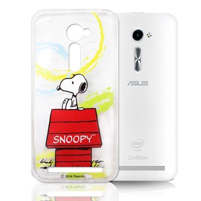 史努比 華碩ASUS ZenFone 2 5.0吋 透明軟式手機殼 自由款