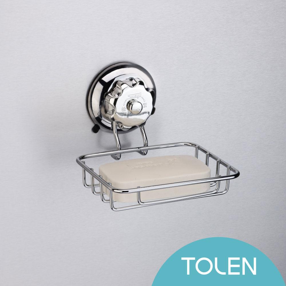 Tolen陶然居-強力無痕吸盤掛勾-Vixo威扣-不鏽鋼肥皂架