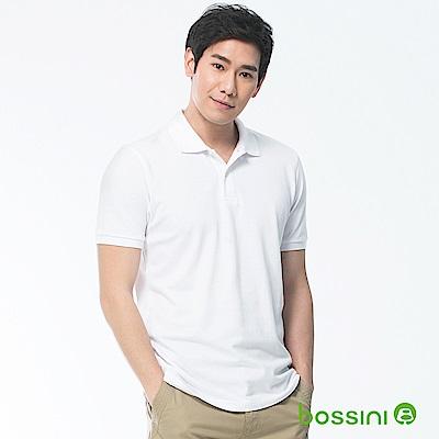 bossini男裝-純棉POLO衫18白