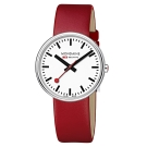 MONDAINE 瑞士國鐵 MINI GIANT小巨人腕錶-紅/35mm