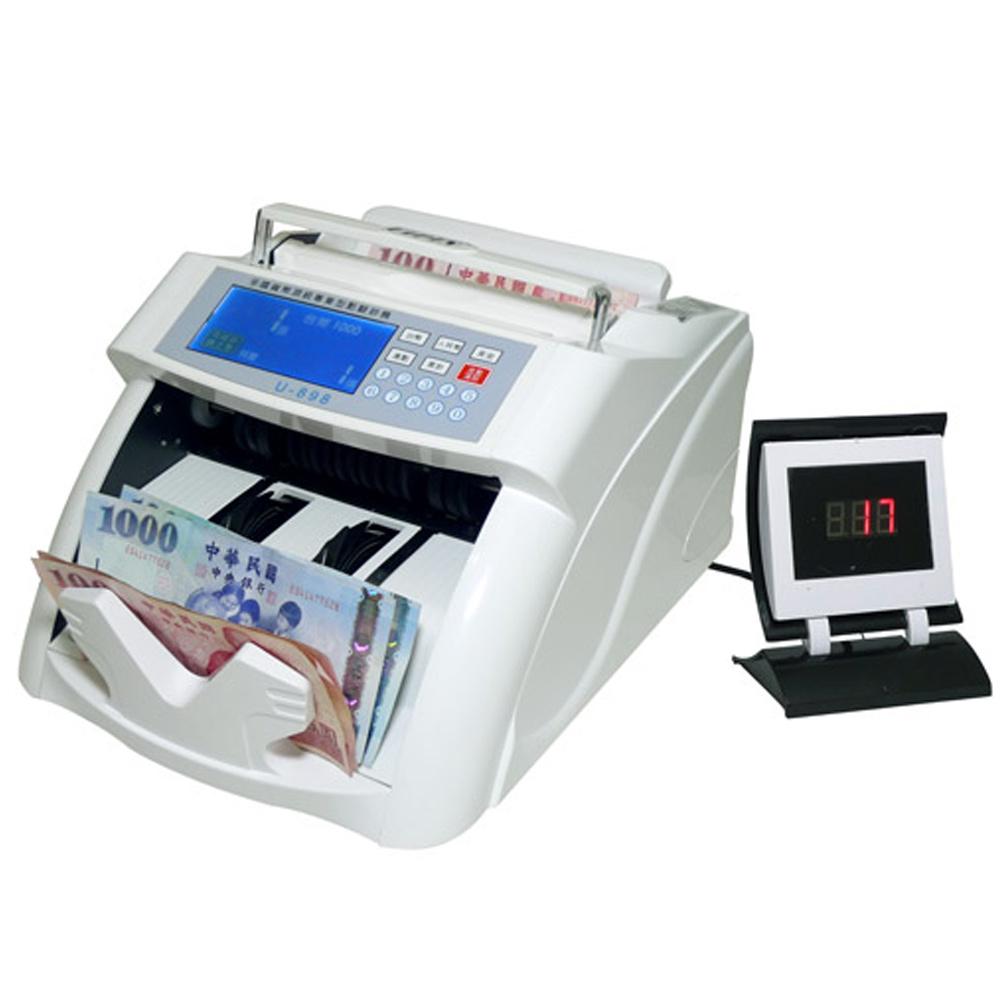 UIPIN全功能多國貨幣頂級數位型點驗鈔機 U-898