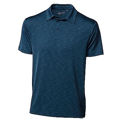 【HAKERS】男 抗UV POLO衫-藍綠