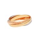Cartier卡地亞TRINITY DE CARTIER 三色金環造型18K婚戒