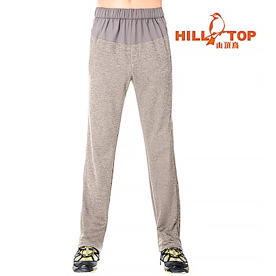 【hilltop山頂鳥】男款吸濕排汗抗UV彈性長褲S07MB4-冰河灰