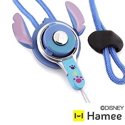 Hamee 迪士尼角色2Way快拆防掉扣環指環頸掛繩 ▲史迪奇