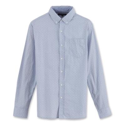 Hang Ten - 男裝 - 都會十字長袖襯衫 - 藍