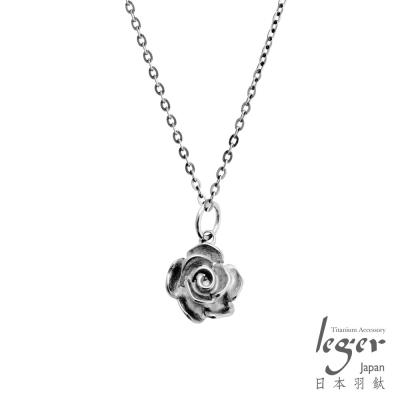 leger日本羽鈦《古典玫瑰》純鈦項鍊(A)