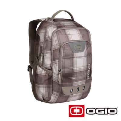 OGIO OPERATIVE II 17吋 行動電腦後背包-棕白格紋
