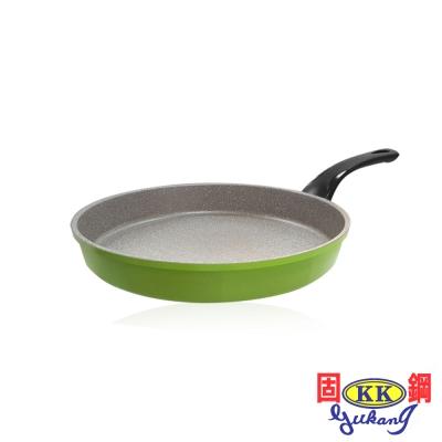 固鋼 清新綠鈦石不沾平煎鍋28cm