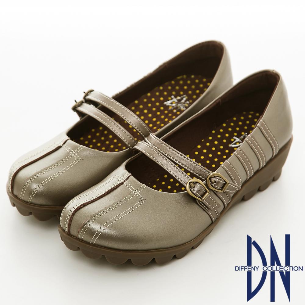 DN 手縫氣墊 高密度全真皮舒適休閒鞋 灰