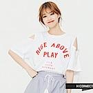 H:CONNECT 韓國品牌 女裝 -削肩字母短袖T-白