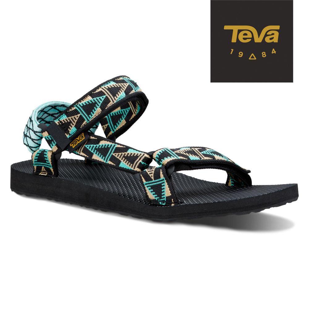 TEVA 美國-男 Original Universal 緹花涼鞋 (格菱黑)
