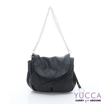 YUCCA - 甜美鏈帶羊皮包 - 黑色 C8033101C37