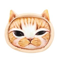 Marukan 可愛貓臉寫真 貓窩 (黃) CT-340