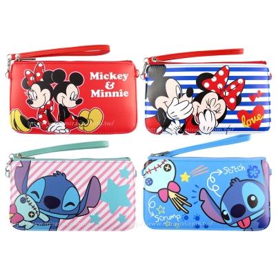 Disney 迪士尼皮質橫式手機袋/萬用包/手腕袋_好朋友系列