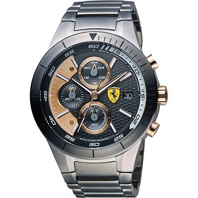 Scuderia Ferrari 法拉利 RedRev Evo 計時手錶-鐵灰/46mm