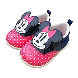 迪士尼童鞋 米妮 立體學步鞋-桃