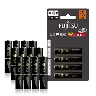 Fujitsu 低自放4號900mAh 鎳氫充電電池(12顆入)