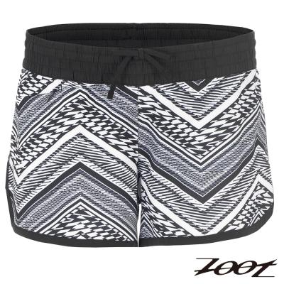 ZOOT 頂級極致冰涼感3吋綁帶式跑褲(女)Z1604011(圖騰白)