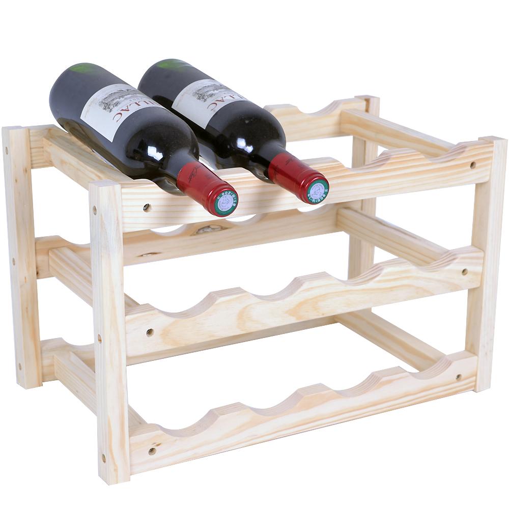 酒窖原木紅酒架