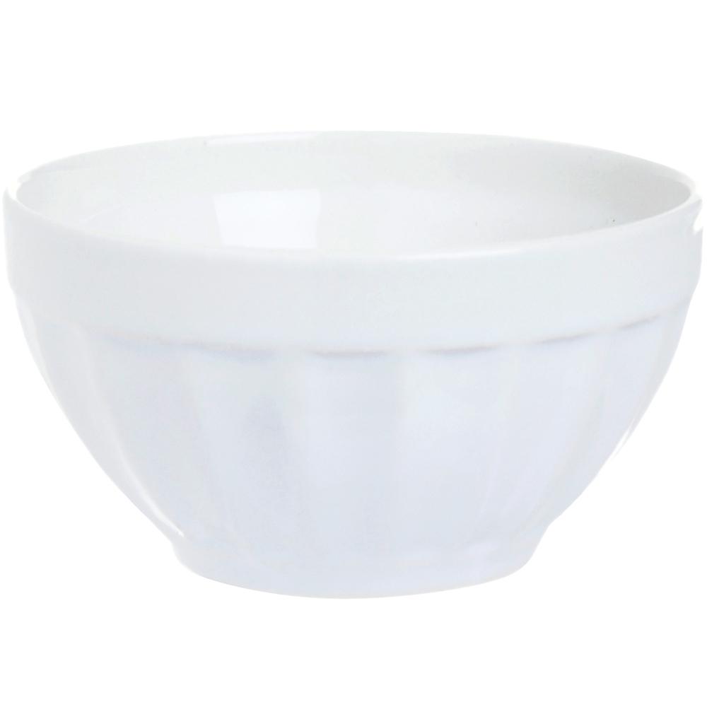 EXCELSA Division直紋陶餐碗(白14cm)