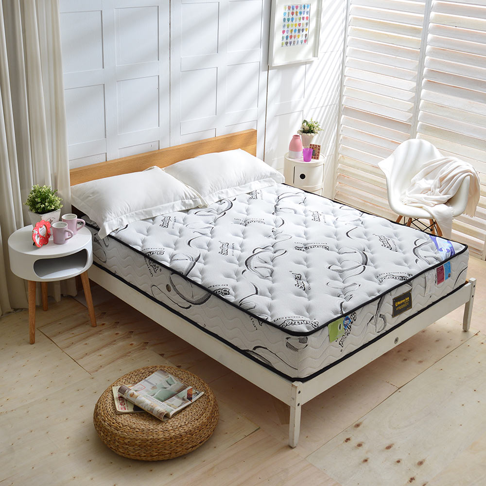Ally愛麗 雙人加大6尺 瑞士Sanitized涼感長效抗菌除臭護邊獨立筒床墊 麵包床