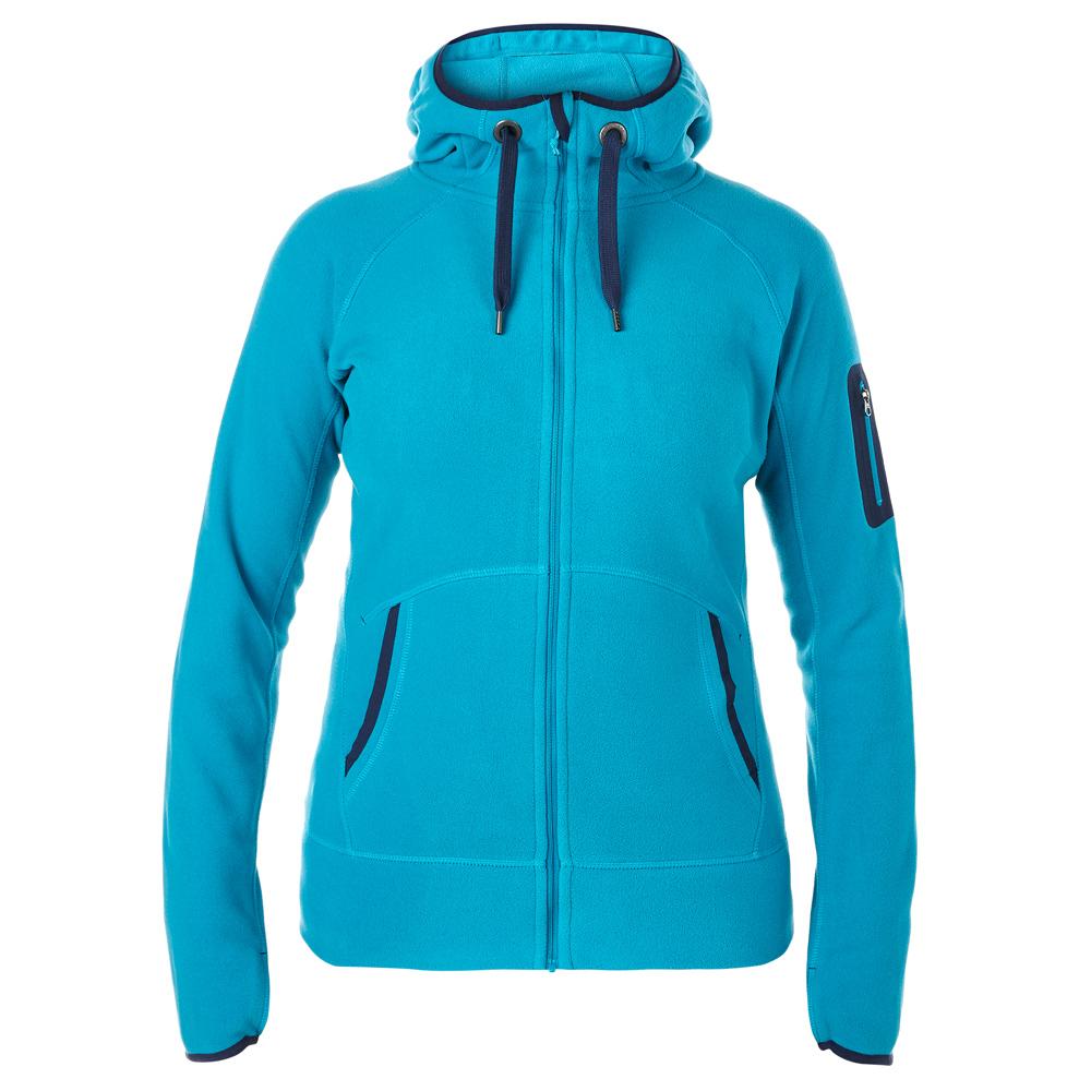 【Berghaus 貝豪斯】女款連帽刷毛保暖外套H22F24淺灰藍