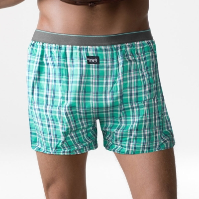 sloggi men-平織寬鬆平口內褲 M-XL(格子綠)