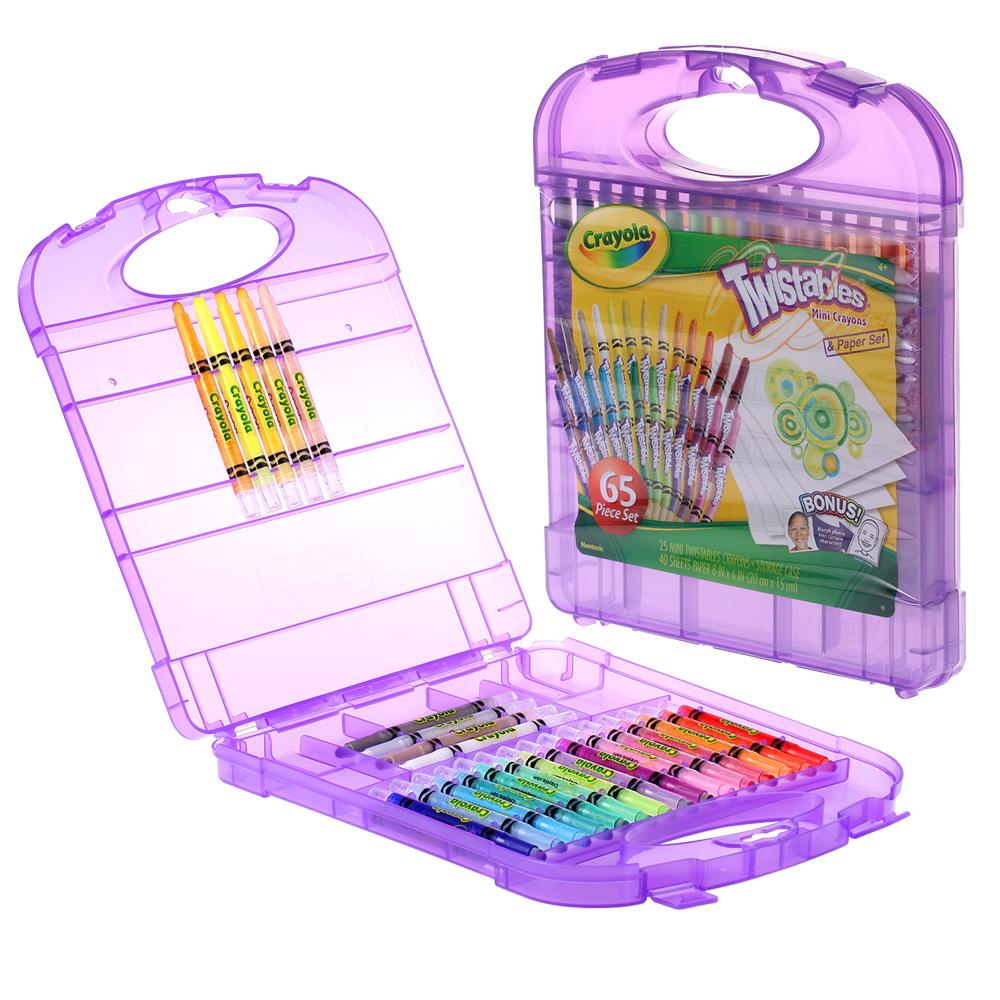 美國crayola 繪兒樂-迷你旋轉蠟筆套裝25色(3Y+)