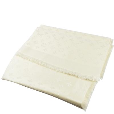 LV M71330 MONOGRAM花紋大方巾圍巾(白)