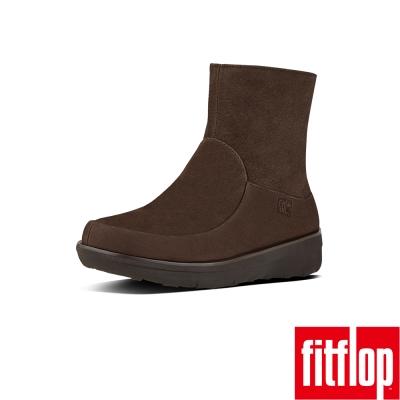 FitFlop TM-LOAFF TM SHORTY ZIP BOOT-巧克力棕