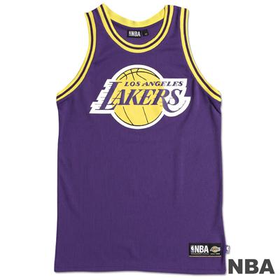 NBA-洛杉磯湖人隊經典印花運動背心-紫