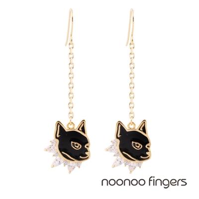 Noonoo-Fingers-Anubis-Drop-Hook-埃及阿努比斯-耳勾垂墜耳環
