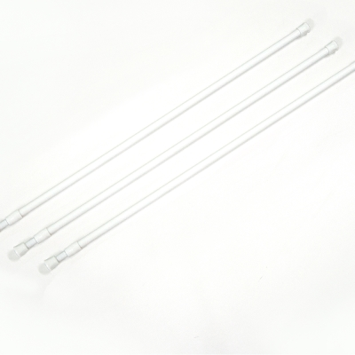 布安於室-白色門簾伸縮桿約63-110cm(3入組)